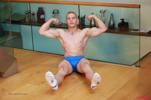British Martin Ivanov strips down to his white socks and tight undies
